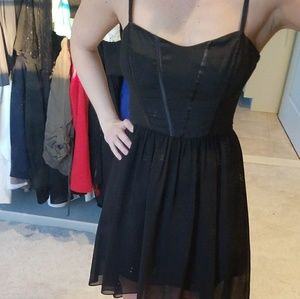 BEBE baby doll black dress sz 4